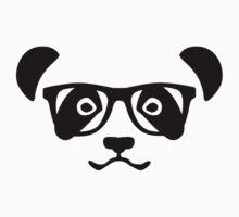 Panda hipster nerd by Designzz