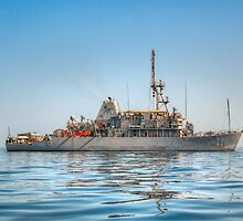 USS Gladiator (MCM 11) - Mine Countermeasures Ship by Joshua McDonough Photography