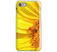 Honeybee Visiting Sunflower iPhone Case/Skin