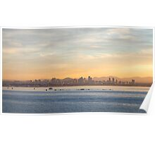 Sunrise over San Diego, California Poster