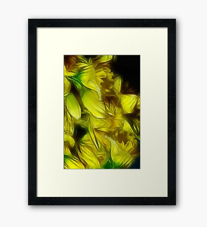 Abstract Yellow Daffodills Framed Print