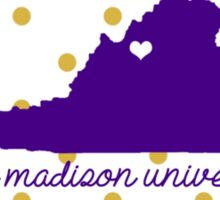 JMU Polka Dots Sticker