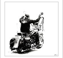 Biker at the Windjammer by Don Bailey