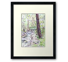 Green Bridge Framed Print