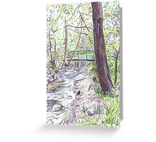 Green Bridge Greeting Card