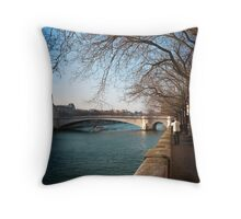View from Ile-St Louis Throw Pillow