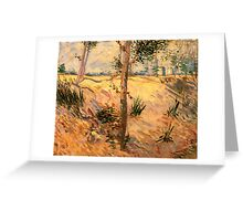 'Trees in a Field on a Sunny Day' by Vincent Van Gogh (Reproduction) Greeting Card