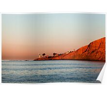 Lighthouse at Sunset, San Diego California Poster