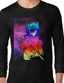 Chainsaw Rainbow Bhurrr Long Sleeve T-Shirt