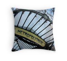 Retro Metro Throw Pillow