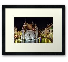 Palais de l'Isle in Annecy, France Framed Print