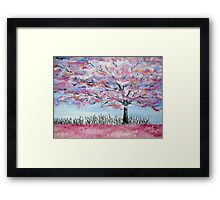 Cherry Blossom tree in Japan Framed Print