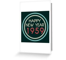 Happy New Year 1959 Greeting Card