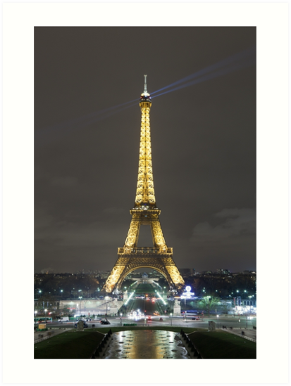 Eiffel Tower at Night by Joshua McDonough Photography