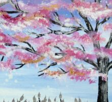 Cherry Blossom tree in Japan Sticker