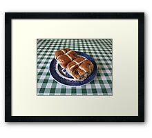 A Foretaste of Easter - Spicy Hot Cross Buns Framed Print