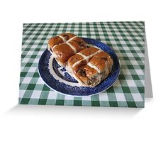 A Foretaste of Easter - Spicy Hot Cross Buns Greeting Card