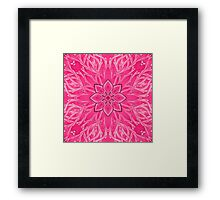 - Pink branches - Framed Print