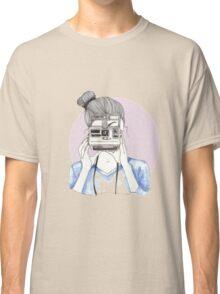 Pastel Polaroid Girl Classic T-Shirt