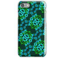 Blue & Green Geometric Pattern iPhone Case/Skin