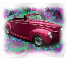40' Ford Convertable Poster