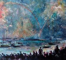 THE FIREWORKS - ENGLISH BAY VANCOUVER(C1999) by Paul Romanowski