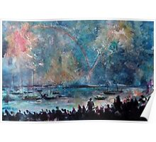 THE FIREWORKS - ENGLISH BAY VANCOUVER(C1999) Poster