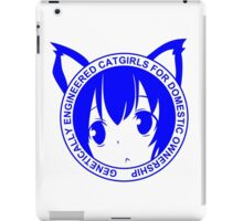 Genetically Engineered Cat Girls for Domestic Ownership iPad Case/Skin