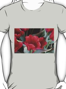 LUSCIOUS SOFT RED TULIPS T-Shirt
