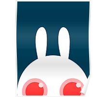 White bunny Poster