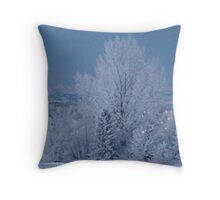 Frosty Rockies Throw Pillow