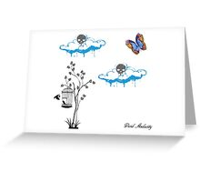 BIRDS UNDER THE CLOUDS Greeting Card
