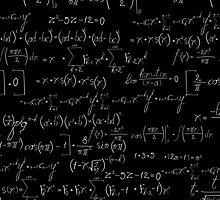 Chalk board mathematics pattern by Richard Laschon
