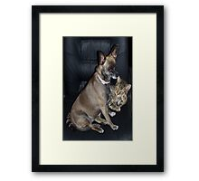 Mutt and Jeff Framed Print