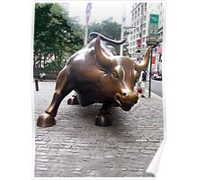 The Wall Street Bull, Manhattan, New York Poster