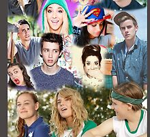 YouTubers Collage Phone Case by dathelbig