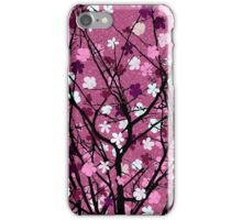 Spring theme floral pink iPhone Case/Skin