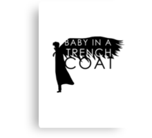 BABY IN A TRENCH COAT Canvas Print