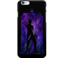 Spacey TARDIS with 12th Doctor Silhouette iPhone Case/Skin