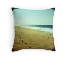 BEACH BLISS - Footprints Throw Pillow