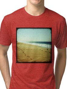 BEACH BLISS - Footprints Tri-blend T-Shirt