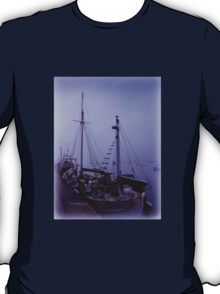 Boats in Morning Mist T-Shirt