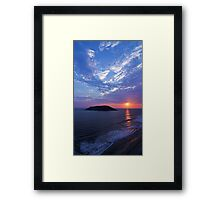 Waves Above and Below Framed Print