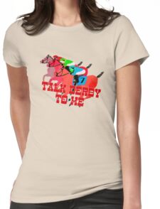 Talk Derby to Me Horse Racing Design Womens Fitted T-Shirt