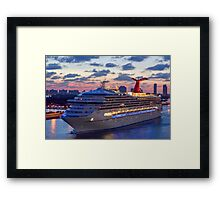 Early Morning Cruise Framed Print