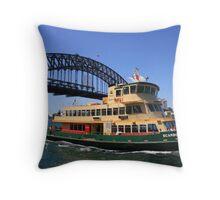 Scarborough Ferry on Sydney Harbour Throw Pillow