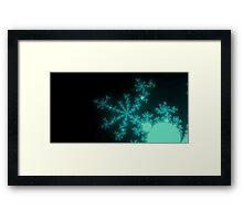 Ice Spires & Snowflakes Framed Print