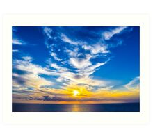 Caribbean Sunset Art Print