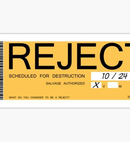 CHAPPIE - Reject Sticker  Sticker