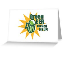Green Beer Luck Greeting Card